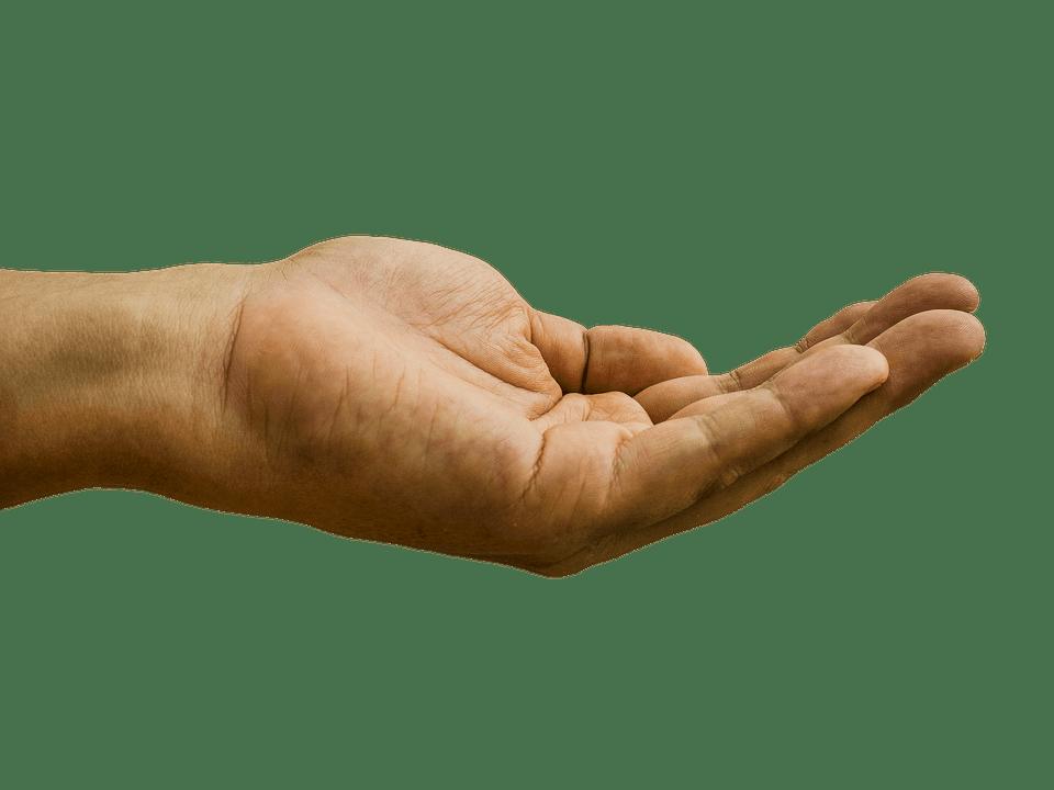 En öppen hand