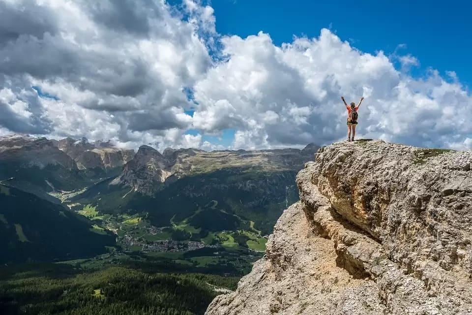 Man på berg