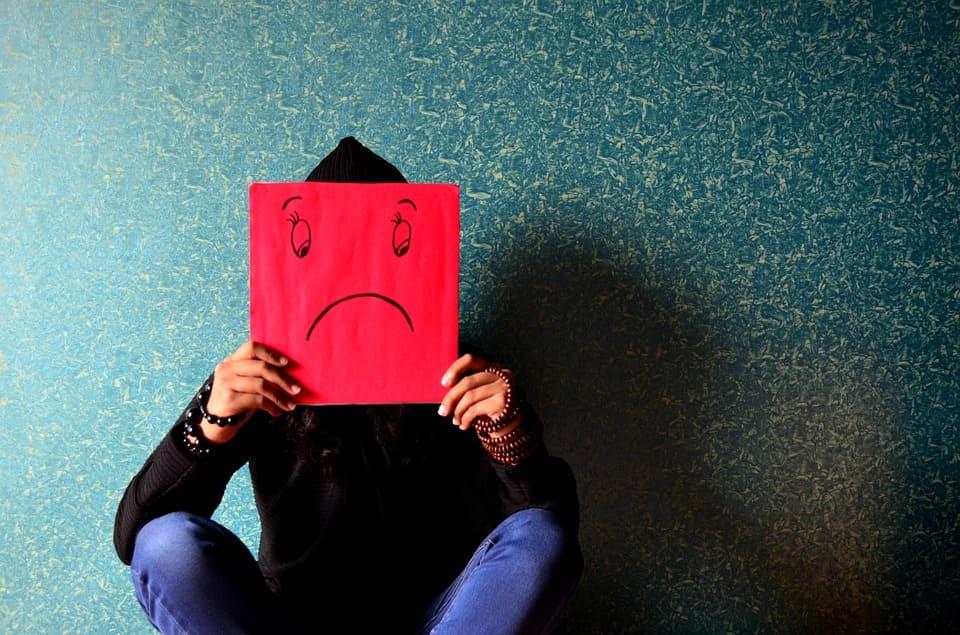 Olycklig man