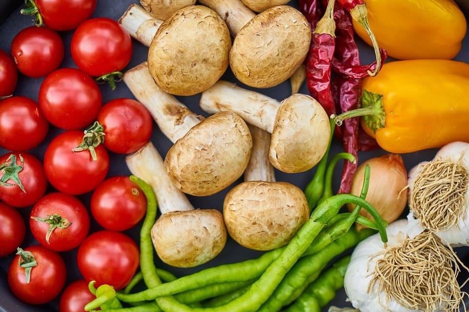 Tomater och svamp